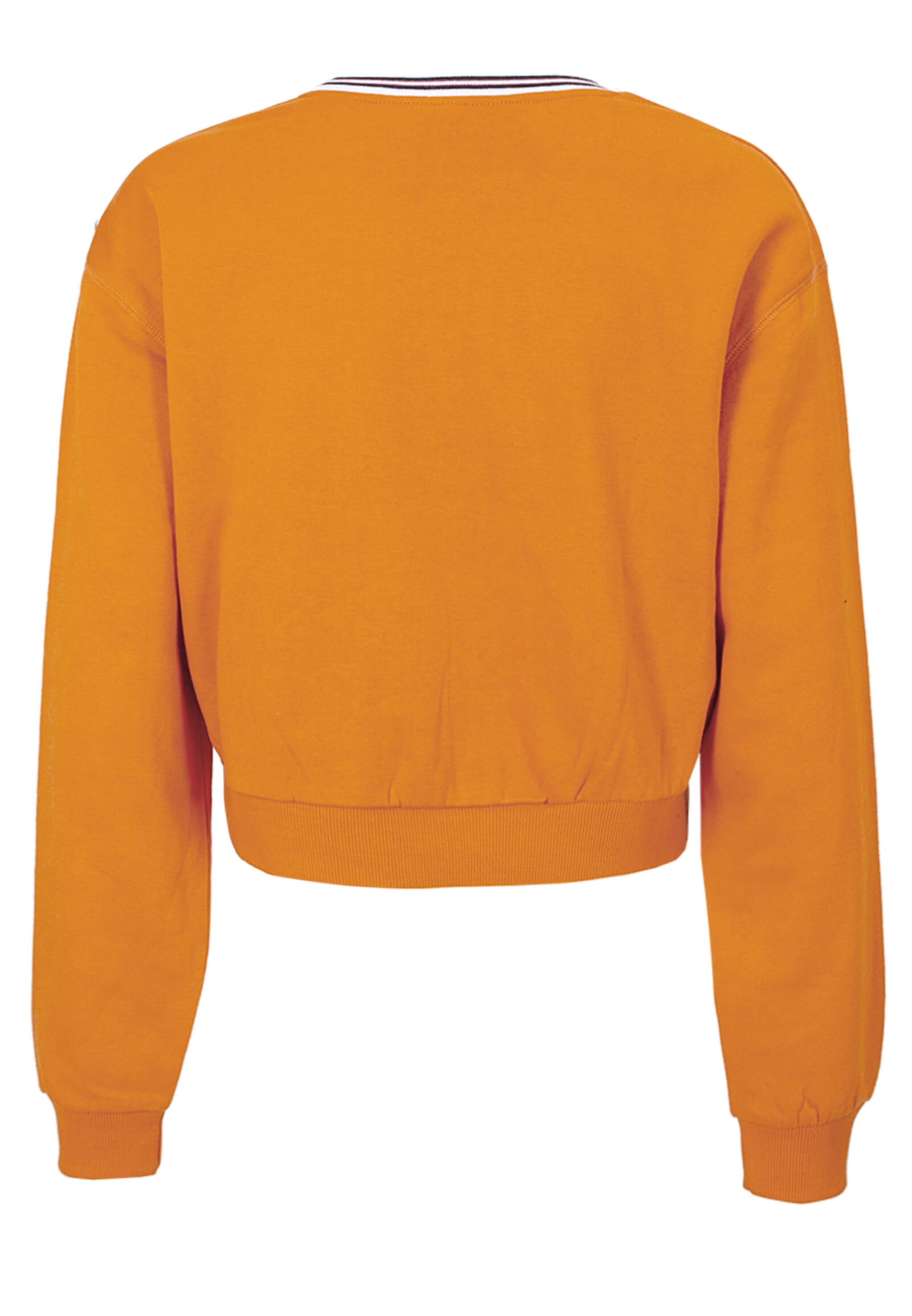 Cropped Sweatshirt mit Flockdruck